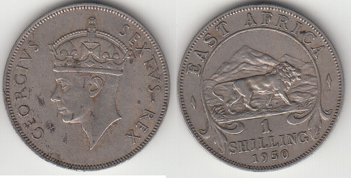 COIN EAST AFRICA 1 SHILLING 1951