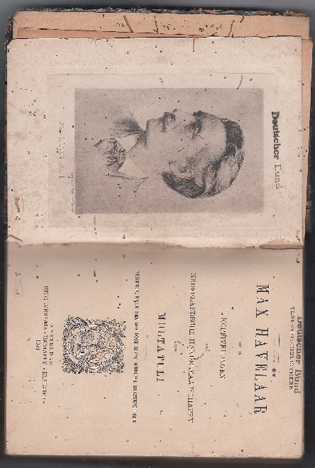 BOOK MAX HAVELAAR 1891 AND 1909