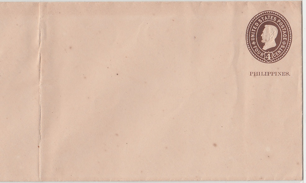 ENVELOPE AMERIKA OVER PHILIPINE 4 CENT 1899.EXTREMLY RARE