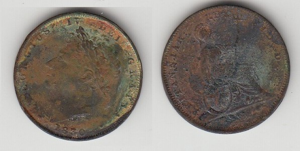 COIN KINGDOM BRITANIA FARTING 1830