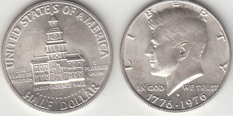 COIN AMERIKA 50 CENT 1976